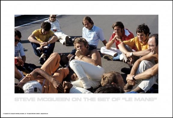 "Steve On The Set of ""Le Mans"""