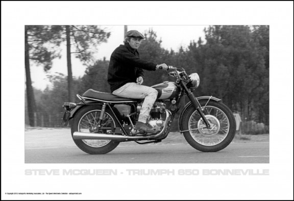 Steve McQueen – Triumph 650 Bonneville