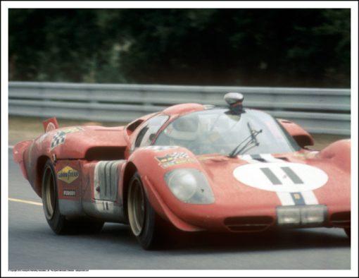 FERRARI 512S – RONNIE BUCKNUM/SAM POSEY – LE MANS 1970