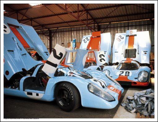 """PORSCHE 917s ON THE SET OF """"LE MANS"""""""