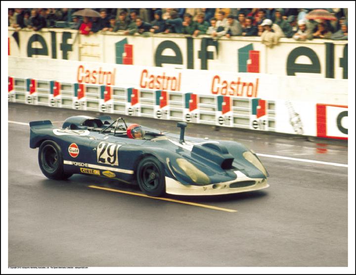 Porsche 908 Camera Car Herbert Linge Jonathan Williams Le Mans 1970 Autosports Marketing Ociates Ltd
