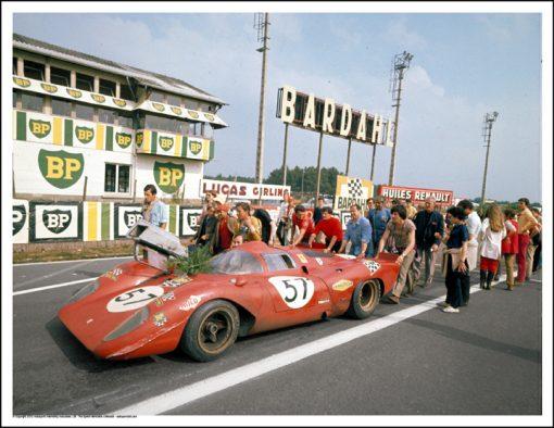 FERRARI 312P – TONY ADAMOWICZ/CHUCK PARSONS – LE MANS 1970