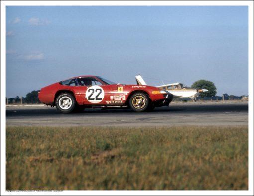 FERRARI 365 GTB/4 – LUIGI CHINETTI, JR/BOB GROSSMAN – SEBRING 1972